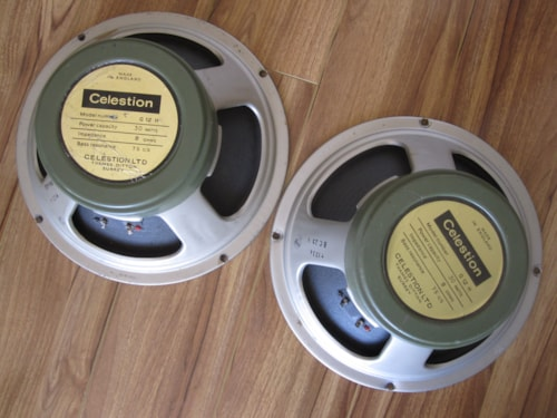 1970 VINTAGE CELESTION G12H 30W T1234 8 OHM 75 HZ GREENBACK SPEAKERS