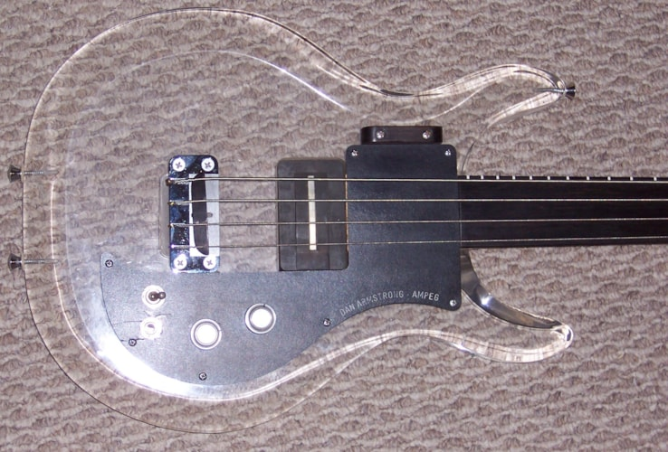 1971 Dan Armstrong  Ampeg ARM U B-2 Fretless Lucite, Near Mint, Original Hard, Call For Price!