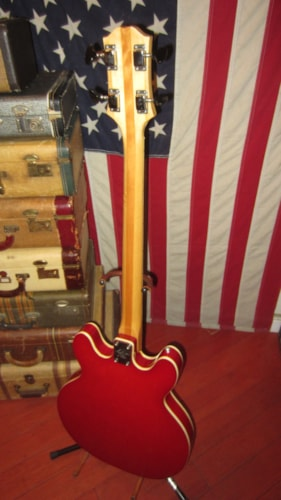1971 Epiphone EA-260 Hollowbody Bass Red, Excellent, GigBag, $895.00