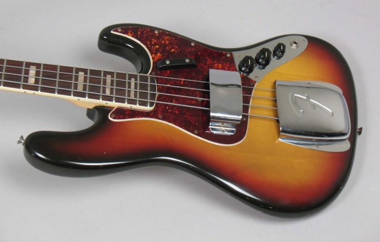 1971 Fender® Jazz Bass® Sunburst, Excellent, Original Hard