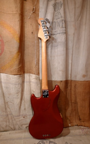 1971 Fender Mustang Bass Competition Red, Very Good, Hard, $2,450.00