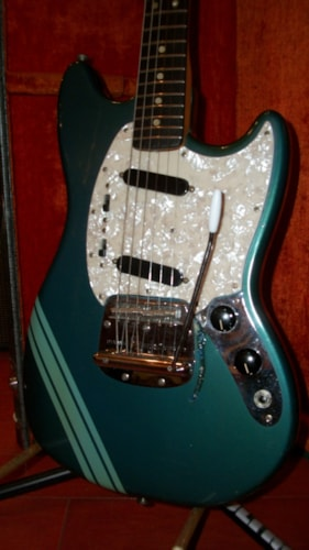 1971 Fender® Mustang® Competition Blue, Excellent, Original Hard, $1,995.00