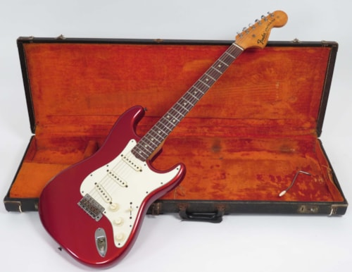 1971 Fender Stratocaster Candy Apple Red, Very Good, Original Hard