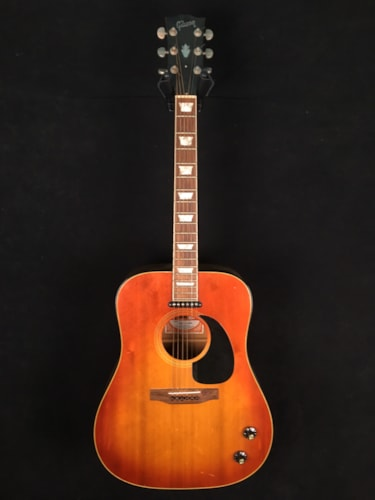 1971 Gibson J-160E sunburst, Very Good, Hard