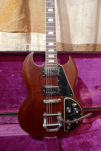 1971 Gibson SG Deluxe Cherry Red, Very Good, Original Hard