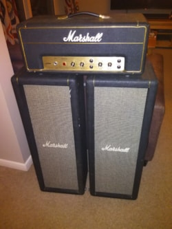1971 Marshall 1917 JMP PA20 Head and 2x10 Basket Weave Columns w/ covers