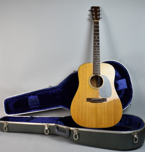1971 Martin D-18 Natural, Very Good, Original Hard
