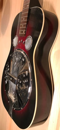 1972 Dobro Ye Olde Wooden DOBRO Model 60D-S Red Sunburst