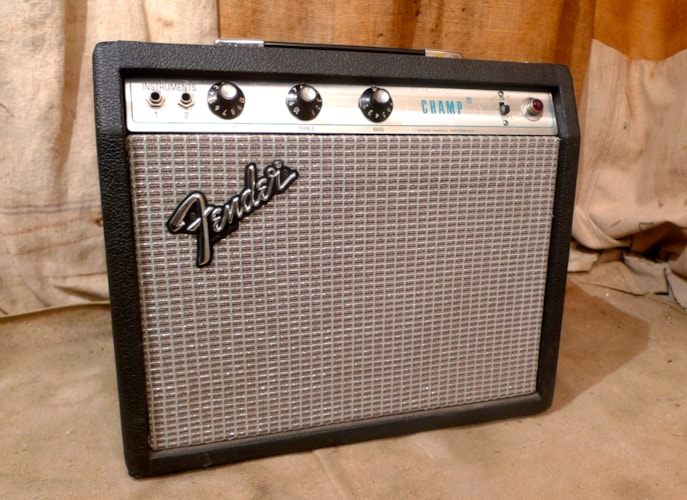 1972 Fender Champ Silverface, Very Good, $675.00