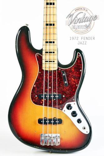 1972 Fender Jazz Bass Three Tone Sunburst