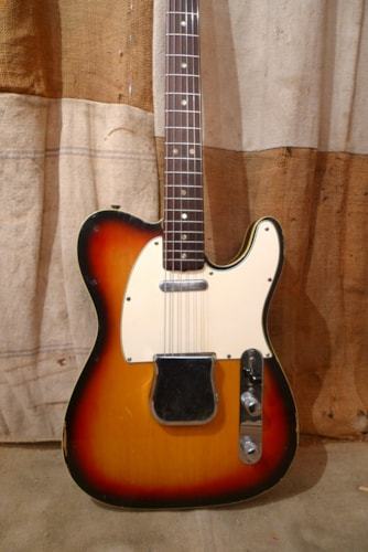 1972 Fender Telecaster Custom Sunburst, Very Good, Original Hard