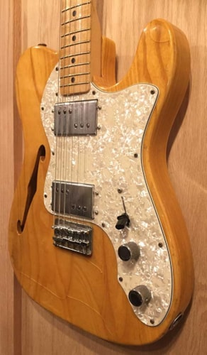 1972 Fender® Telecaster® Thinline Natural, Very Good, Hard, $3,850.00
