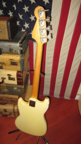 1973 Fender® Musicmaster™ Bass White, Excellent, Original Soft, $999.00