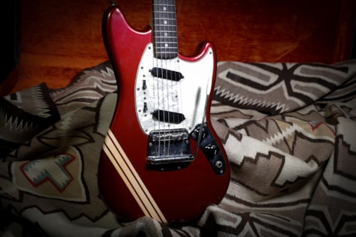1973 Fender Mustang Competition Stripe Red