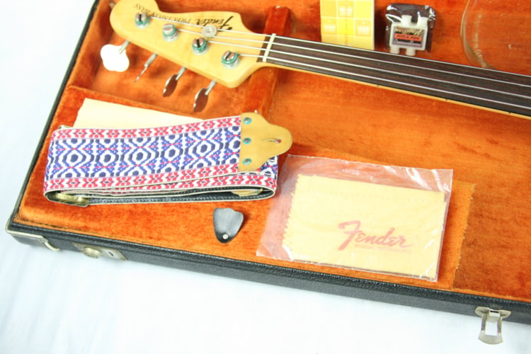 1973 Fender Precision Bass Fretless! Sunburst, Rosewood Neck, w/ OHSC! P jazz Excellent $2,890.00