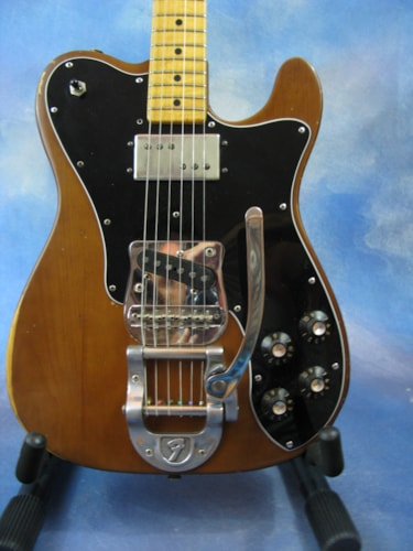1973 Fender® Telecaster® Custom with Factory Bigsby Mocha, Excellent, Original Hard
