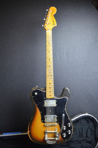 1973 Fender Telecaster Deluxe Sunburst, Good, Hard