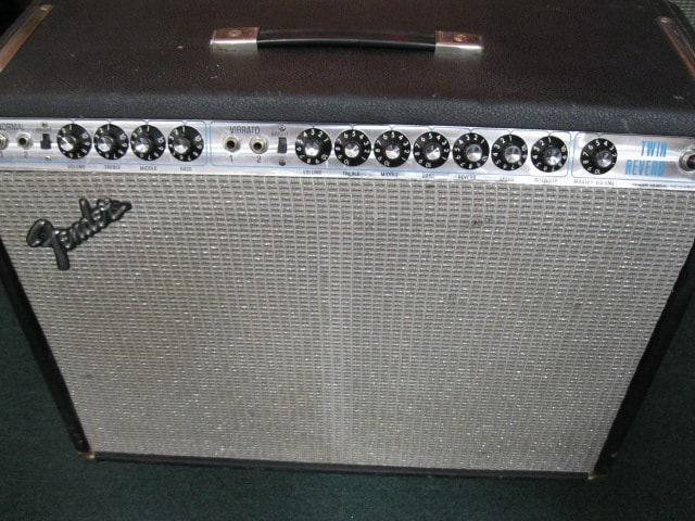 1973 Fender Twin Reverb Black/Silver, Excellent