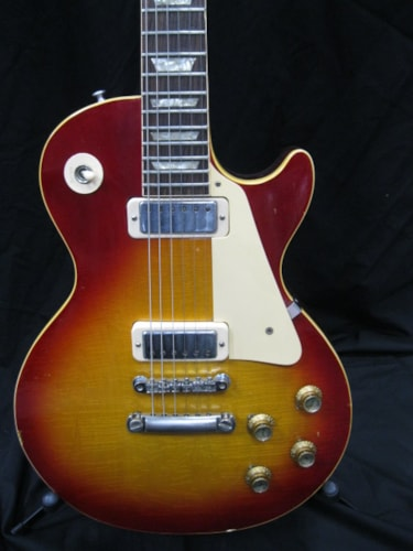 1973 Gibson Les Paul Deluxe Cherry Sunburst, Good, Hard