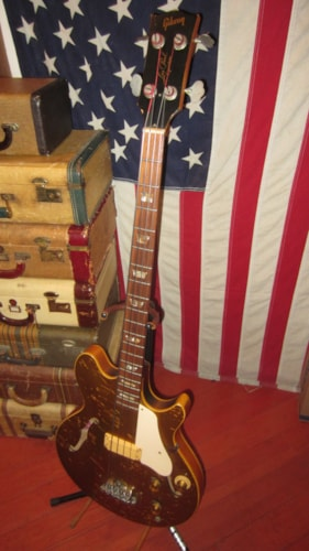 1973 Gibson Les Paul Signature Bass Gold, Excellent, GigBag, $3,995.00