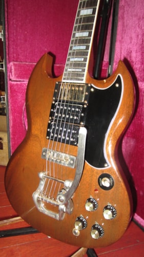 1973 Gibson SG Custom Walnut, Very Good, Original Hard, $2,995.00