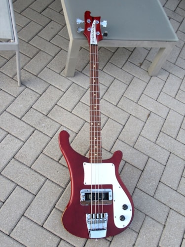 1973 Rickenbacker 4000 Bass Burgandyglo, Excellent, Hard