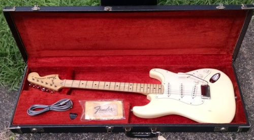 1974 Fender Stratocaster Best price CREAM White, Excellent, Original Hard, $4,295.00