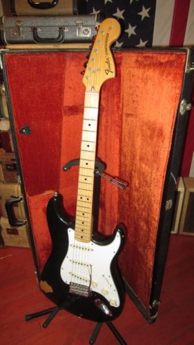 1974 Fender Stratocaster Black, Excellent, Original Hard, $3,995.00