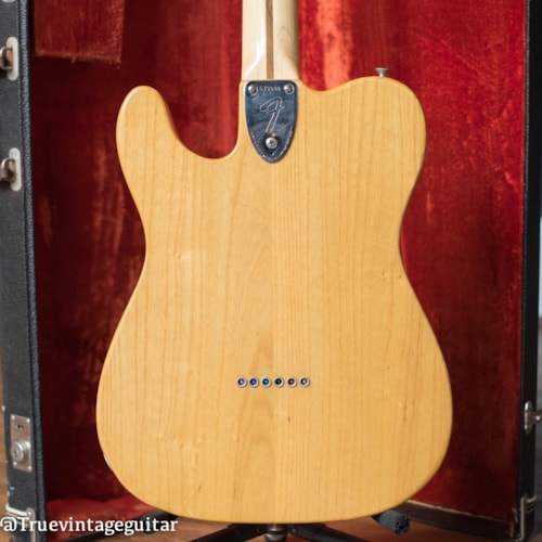 1974 Fender Telecaster Thinline Natural, Very Good, Original Hard, $1.00