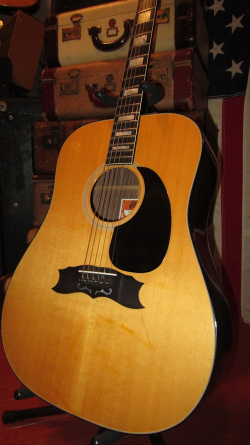 1974 Gibson Heritage Custom Natural Gt Guitars Acoustic