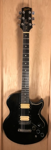 1974 Gibson L-6S Custom Black, Very Good, Hard