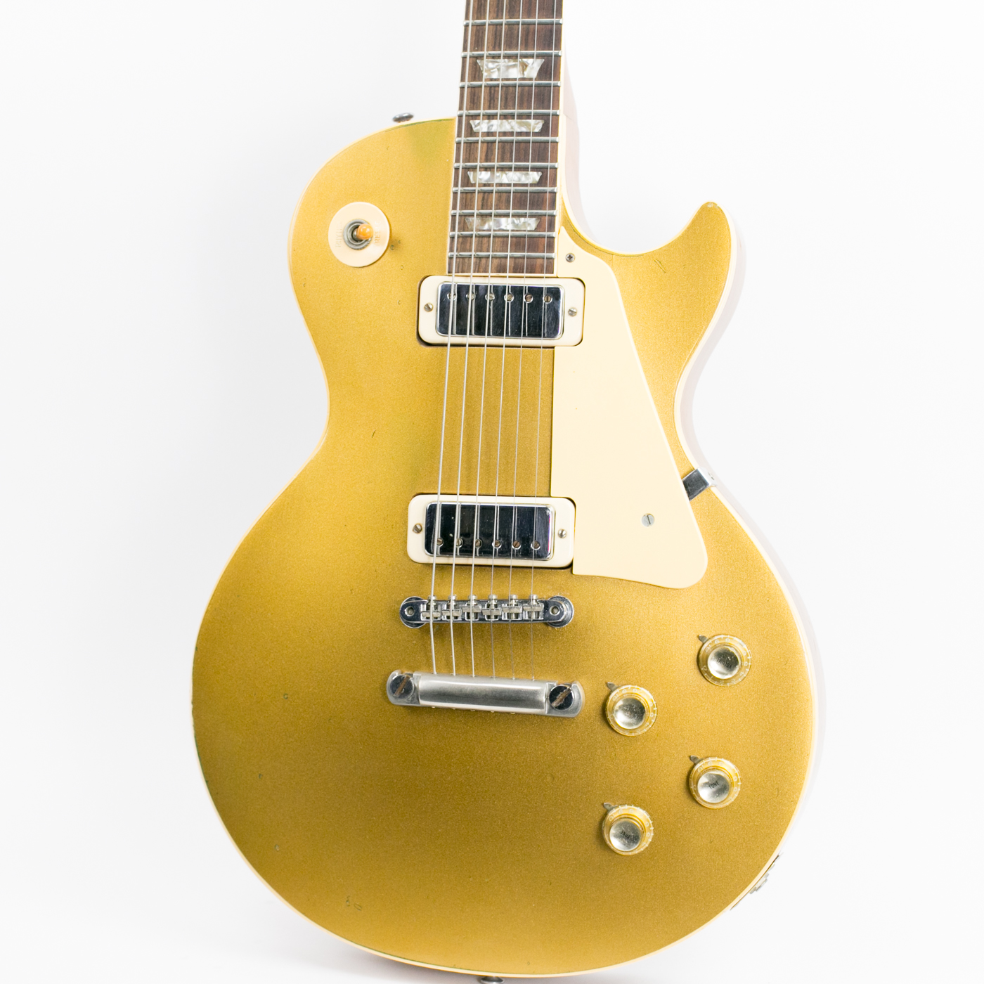 1974 gibson les paul deluxe gold top guitars electric solid body Les Paul Deluxe Mini Humbuckers 1974 gibson les paul deluxe gold top very good original hard 3 499 00