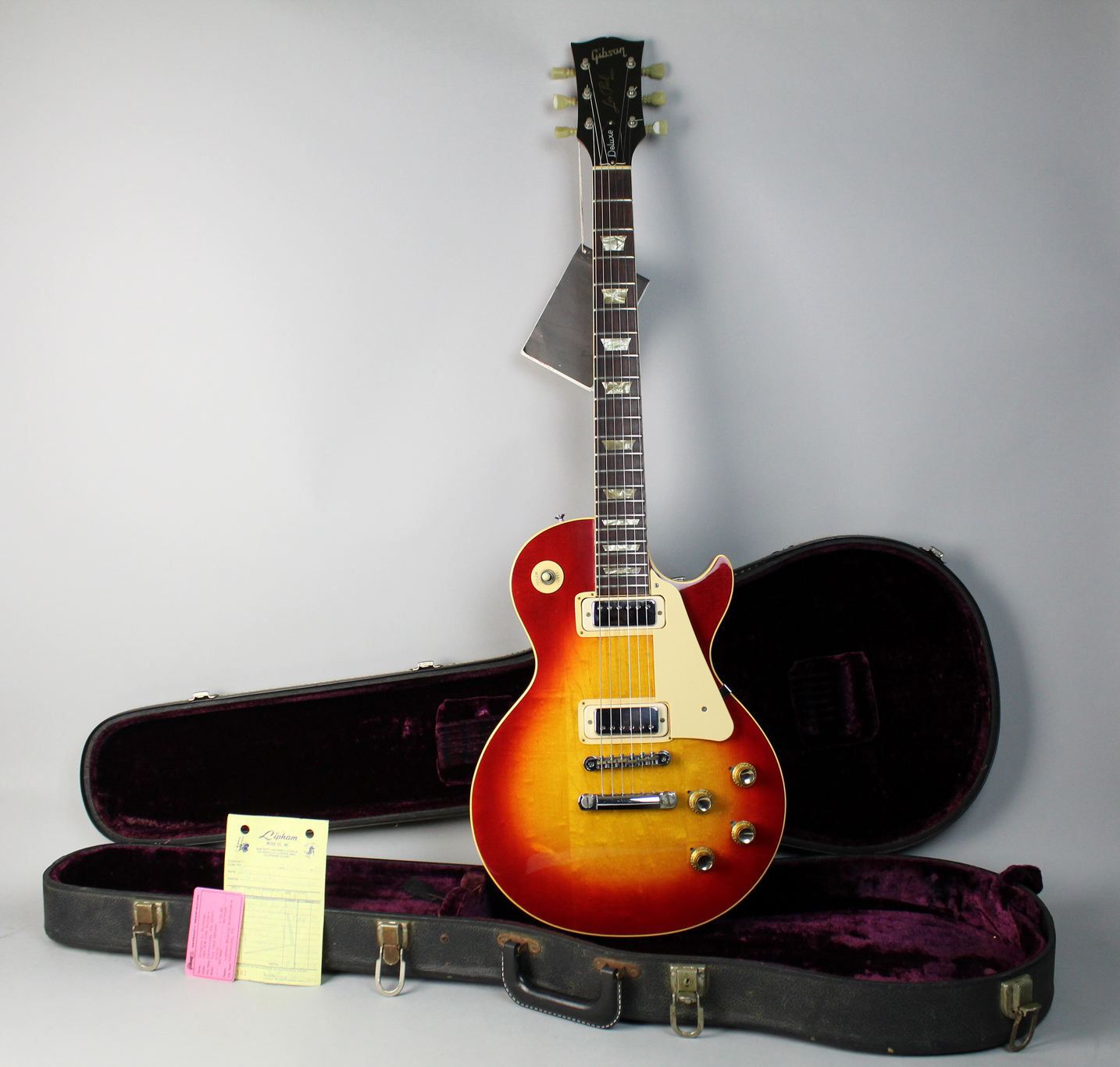 1974 gibson les paul deluxe sunburst guitars electric solid body Gibson Les Paul Heritage Series 1974 gibson les paul deluxe sunburst electric guitar w ohsc and case candy