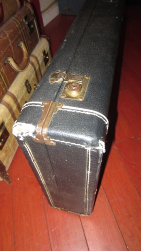 1974 Guild® B-301 Electric Bass Case Black and Blue, Very Good, Original Hard, $199.00