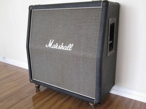 1974 VINTAGE MARSHALL 4x12 CELESTION PULSONIC G12M CAB Excellent