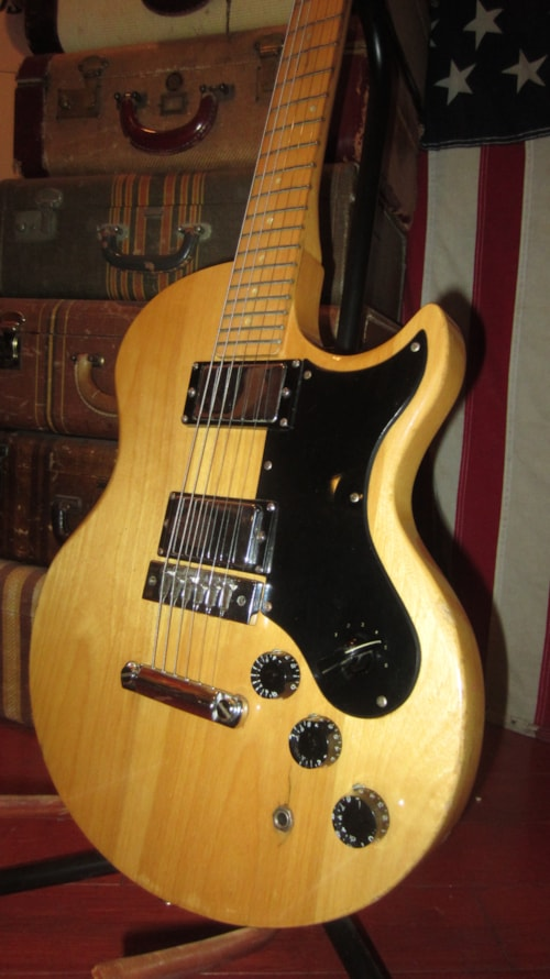 1975 Crestwood Gibson L6 S Copy Natural Gt Guitars Electric