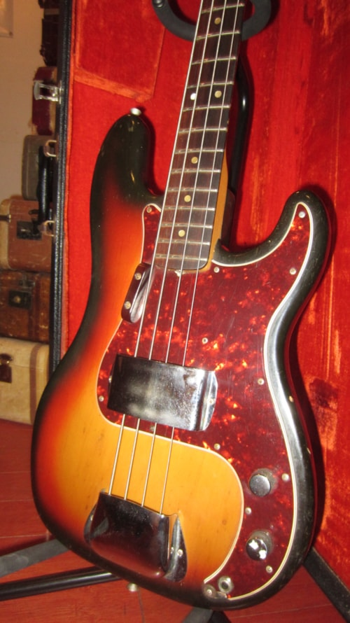 American Express Card >> 1975 Fender Precision Bass Sunburst > Guitars Bass | Rivington Guitars