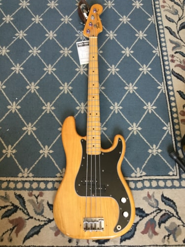 1975 Fender® Precision Natural, Excellent, Hard