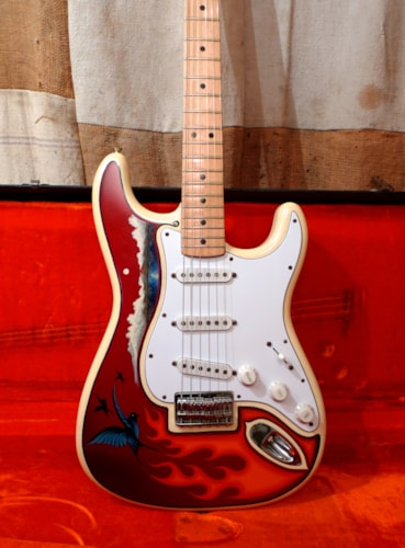 1975 Fender® Stratocaster® Olympic White, Excellent, Original Hard
