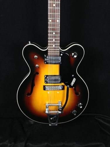 1975 Gretsch 7608 Broadkaster Sunburst, Excellent, Original Hard