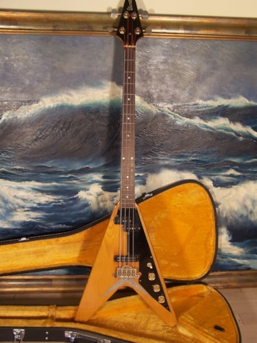 1975 Ibanez Rocket Roll Sr Bass Korina, Excellent, Original Hard
