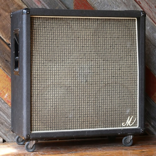 "1970's Marshall ""Big M"" Basketweave 4x12 Speaker Cabinet"