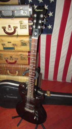 1976 Epiphone Scroll Guitar Natural, Excellent, Hard