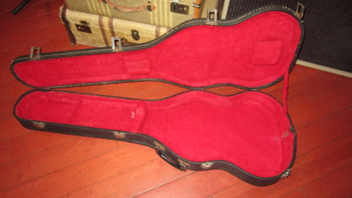 1976 Gibson SG Case Black with Red Interior, Excellent, Original Hard