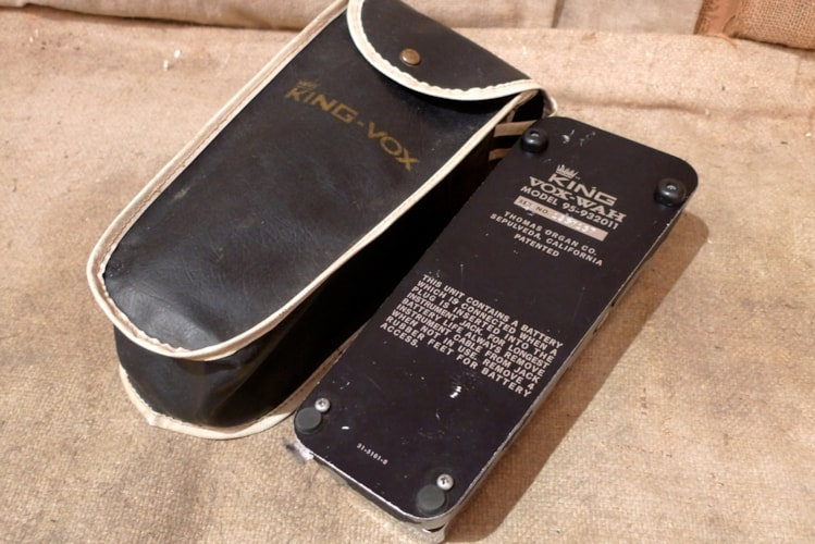 1976 King Vox Wah Wah Pedal Excellent, $250.00