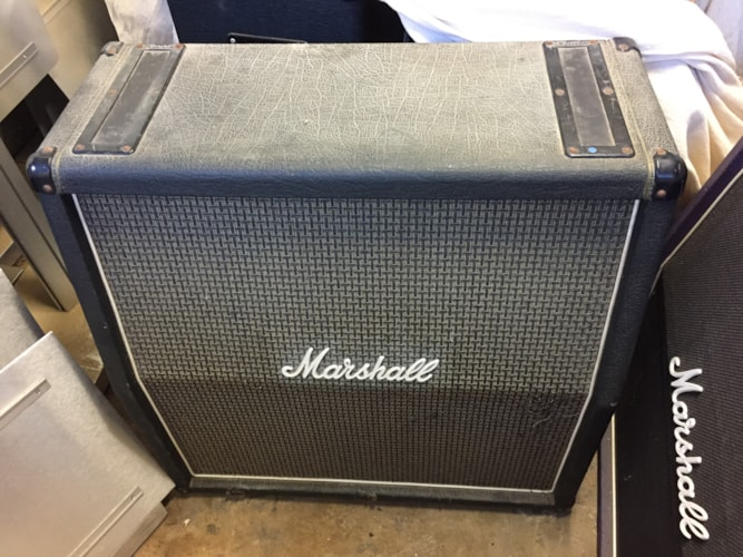 1976 Marshall 4x12 Checker Board Speaker Cab Model #1935 w/ Celestion Blac Black, Very Good, $1,000.00