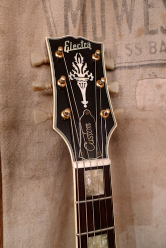 "1977 Electra ""Lawsuit"" Les Paul Custom Black, Very Good, GigBag, $575.00"