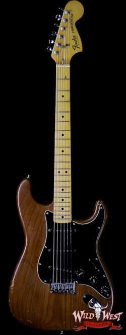 1977 Fender 1979 Fender USA Stratocaster Hardtail Maple Neck Fat Head Mocha Brown