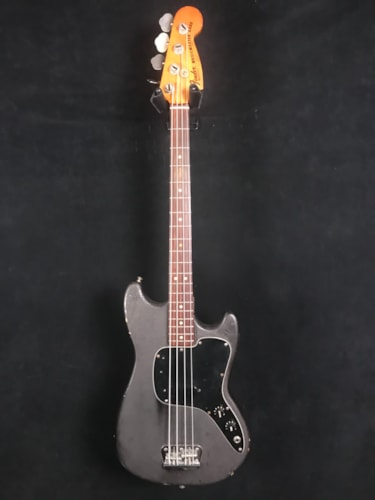 1977 Fender Musicmaster refinished Black