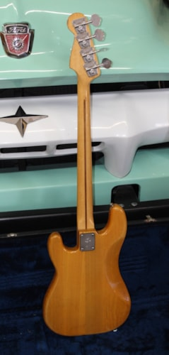 1977 Fender® Precision Bass® Fretless Natural, Very Good, Hard, $1,450.00